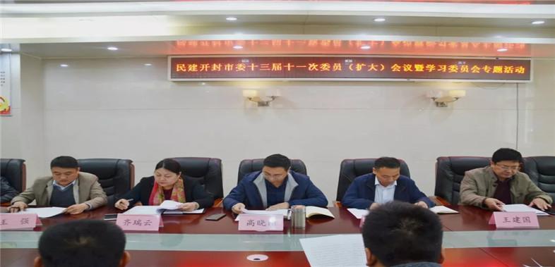 民建开封市委组织召开十三届十一次委员(扩大